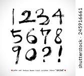 handwritten numbers    vector   ... | Shutterstock .eps vector #245916661