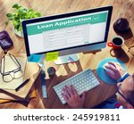 loan application bank finance... | Shutterstock . vector #245919811