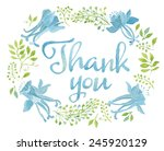 blue watercolor thank you words ... | Shutterstock .eps vector #245920129