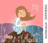 virgo zodiac sign of horoscope. ... | Shutterstock .eps vector #245928301