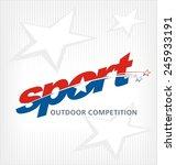 sport logo vector | Shutterstock .eps vector #245933191