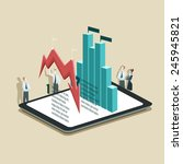vector illustration of business ... | Shutterstock .eps vector #245945821