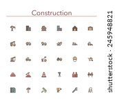 construction colored line icons ... | Shutterstock .eps vector #245948821