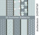 set of ten summer patterns | Shutterstock .eps vector #245949769
