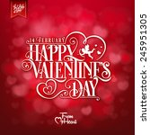elegant valentines day card  | Shutterstock .eps vector #245951305