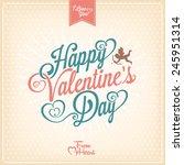 vintage valentines day... | Shutterstock .eps vector #245951314