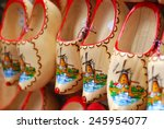 Wooden Clogs With Picture Of...