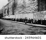 Bread Line Beside The Brooklyn...