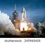 first space shuttle launch on... | Shutterstock . vector #245965435