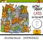 Stock vector cartoon vector illustration of education counting game for preschool children 245965621