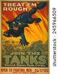wwi. recruiting poster for the...   Shutterstock . vector #245966509