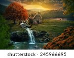 beautiful nature scene with... | Shutterstock . vector #245966695