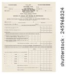 1913 federal income tax 1040... | Shutterstock . vector #245968324