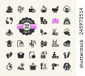 spa   beauty   vector icons set  | Shutterstock .eps vector #245973514