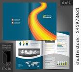 blue brochure template design... | Shutterstock .eps vector #245973631