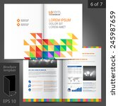 white brochure template design... | Shutterstock .eps vector #245987659