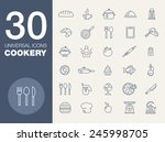 cookery kitchen icon bast set | Shutterstock .eps vector #245998705