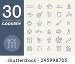 cookery kitchen icon bast set   Shutterstock .eps vector #245998705