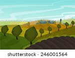 vector spring landscape...   Shutterstock .eps vector #246001564