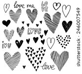 heart set  vector icons for... | Shutterstock .eps vector #246007549