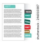 modern brochure design.... | Shutterstock .eps vector #246010387
