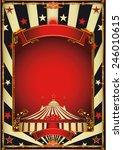 nice vintage circus... | Shutterstock .eps vector #246010615