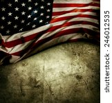 closeup of american flag on... | Shutterstock . vector #246012535