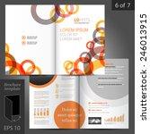 white brochure template design... | Shutterstock .eps vector #246013915