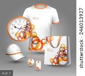 white promotional souvenirs... | Shutterstock .eps vector #246013927