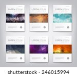 set of modern abstract brochure ... | Shutterstock .eps vector #246015994