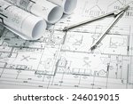 architectural blueprints and... | Shutterstock . vector #246019015