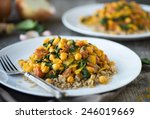 vegetarian curry dish with...
