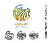 natural farm vector logo design ... | Shutterstock .eps vector #246026911