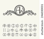 set  template letters to create ... | Shutterstock .eps vector #246030031
