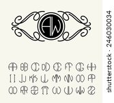 set  template letters to create ... | Shutterstock .eps vector #246030034