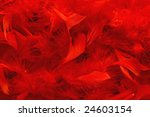 Red Feather Scarf Texture