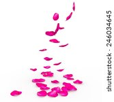 Stock photo rose petals fall to the floor isolated background 246034645