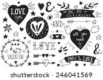 valentine's day design elements.... | Shutterstock .eps vector #246041569