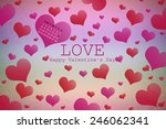 valentine's day background with ... | Shutterstock . vector #246062341