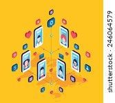 social network and technology... | Shutterstock .eps vector #246064579