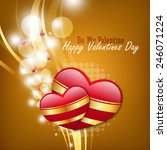 red love heart  valentines day... | Shutterstock . vector #246071224