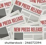 new press release illustration... | Shutterstock .eps vector #246072394