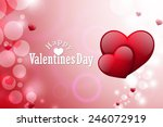 red love heart  valentines day... | Shutterstock . vector #246072919