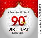 celebrating 90 years birthday ...   Shutterstock .eps vector #246090421