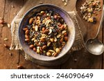 raw organic homemade trail mix... | Shutterstock . vector #246090649