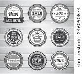 vintage labels template set....   Shutterstock .eps vector #246090874