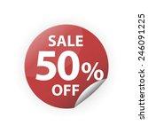 sale 50  red sticker vector icon | Shutterstock .eps vector #246091225