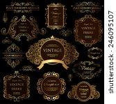 vector set  calligraphic design ... | Shutterstock .eps vector #246095107