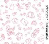 vector seamless pattern with... | Shutterstock .eps vector #246100321