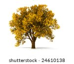 Isolated Autumnal Tree With...